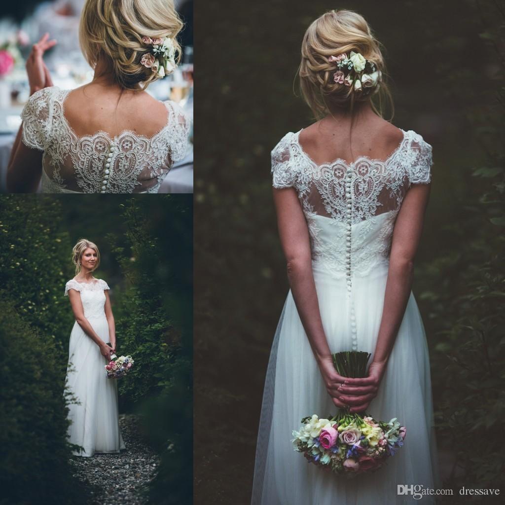 Discount 2018 Cheap Vestido De Novia Forest Boho Long Wedding ...