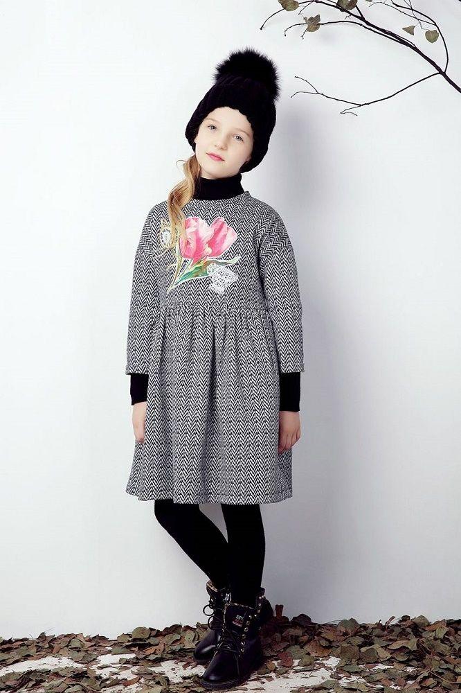 kids christmas Long Sleeve Dress 2016 Brand Kids Dresses for Girls Clothes Floral Pattern Princesse Dress Disfraces Infantiles Princesa