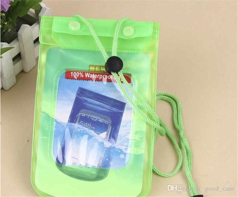 Transparent Universal PVC waterproof bag Underwater swimming dry cellphone pouch pocket big size for iphone 6s plus Samsung note 4 5 Huawei