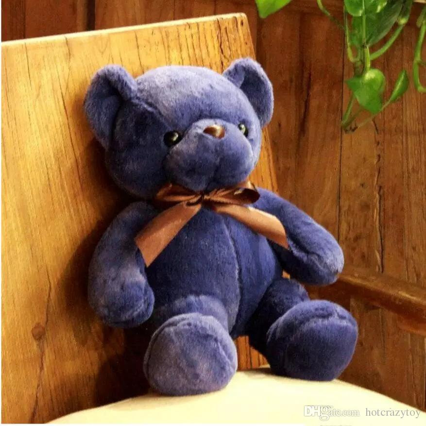 hight 품질 귀여운 33CM 소프트 테 디 베어 인형 장난감 박제 동물 곰 인형 Bowtie 어린이 완구 어린이 생일 선물 파티 장식
