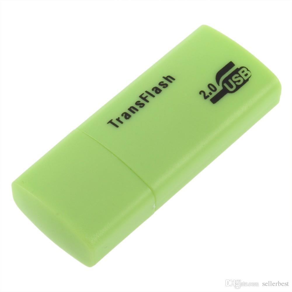 안정적인 프리미엄 유니버설 카드 리더 TF T 플래시 마이크로 보안 디지털 메모리 카드 멋진 미니 USB 2.0 메모리 카드 리더 어댑터 TransFlash