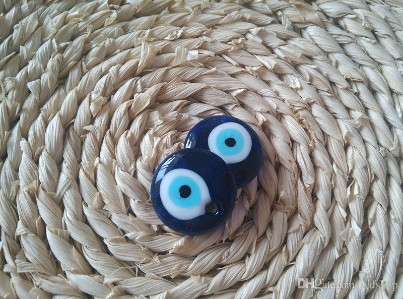 Wholesale 30mm Evil Eye Pendant Turkish Blue Glass Eyes Good Luck Charms Pendant Jewelry Accessories For Necklace Key Rings