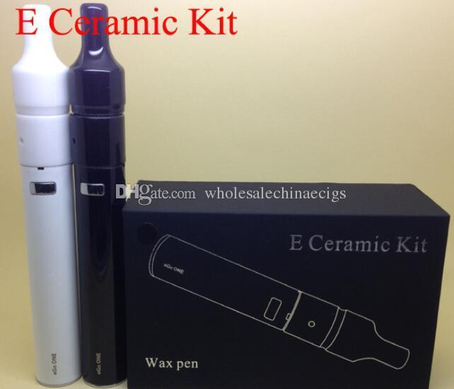 Precio de fábrica E cera de cerámica donut kit atomizador de cerámica bobina vaporizador pluma con ego una batería de control de temperatura