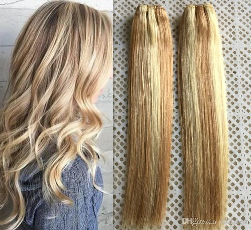 Fashion Style Mix Piano Color 27613 Brazilian Remy Human Hair