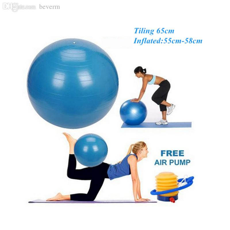 Balance Ball For Weight Loss: Wholesale 65cm Anti Burst Gym Exercise Yoga Fitness Ball