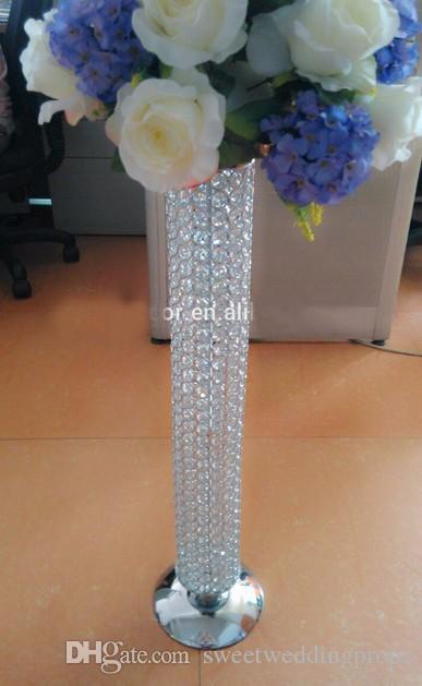 크리스탈 구슬 웨딩 센터 피스, 크리스탈 파란색 된 기둥, 웨딩 장식