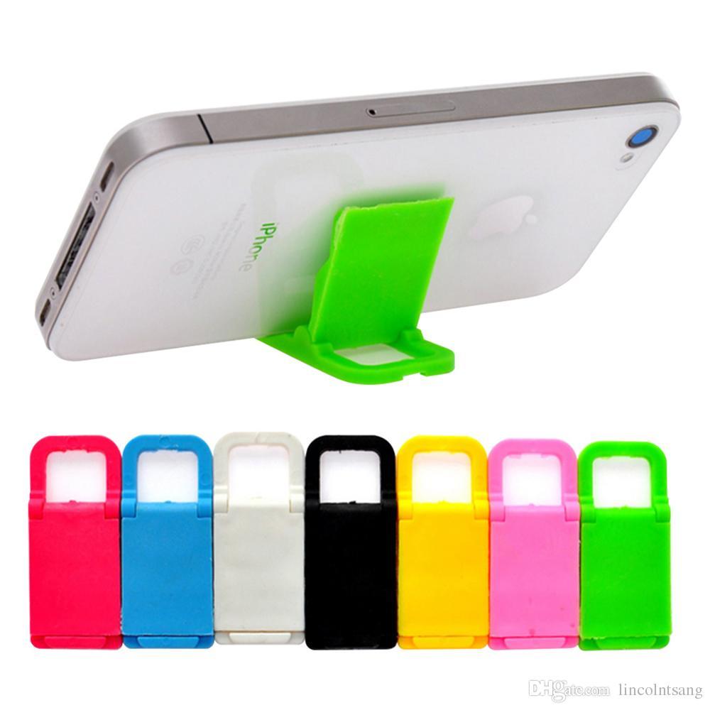 Supporto universale del telefono mobile all ingrosso 1000pcs / lot Supporto  di plastica del supporto del mini stazione della scrivania per il iPhone ...