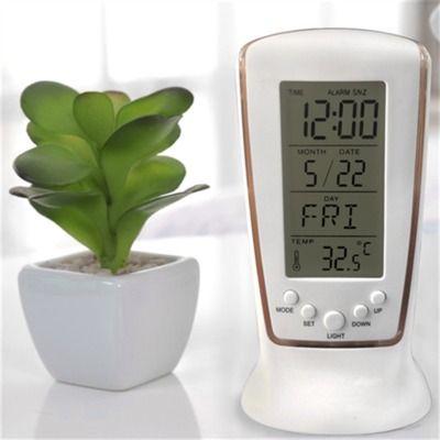 LED Digital Clock LCD Desk Music Alarm Tower Clock+Calendar+Thermometer Digital Thermometer LCD Alarm Clock Calendar Weather Station Clocks