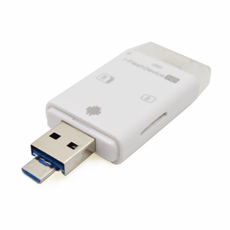 3 in 1 iFlash-Laufwerk USB Micro SD SDHC TF-Kartenleser Writer für iPhone5 / 5s / 6 / 6s plus / ipad Alle Android-Handys