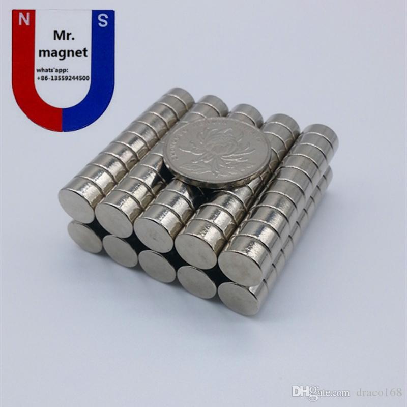100 pz D10x4mm Super forte neodimio magnete D10x4 10 * 4mm N35 magnete, D10 * 4 magnete permanente 10x4mm magnete raro terra dia 10mmx4mm, 10x4
