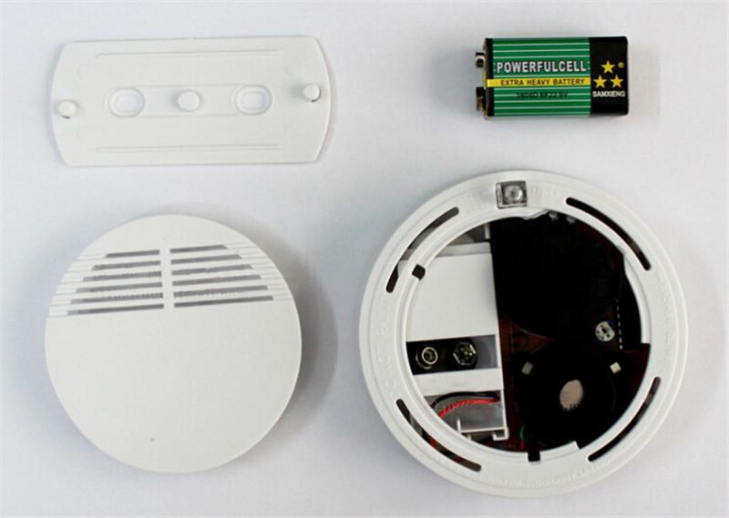 2016 New Version White Home Security System Photoelectric Independent Smoke Detector Fire Alarm with DHL