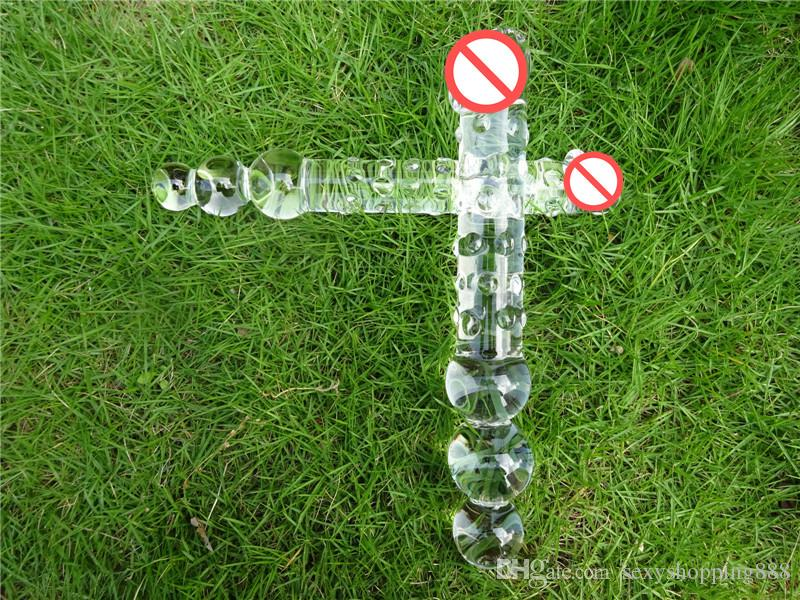 Большой стеклянный фаллоимитатор огромный кристалл пенис двухсторонний большой Pyrex анальные шарики анальная пробка задницы шары секс игрушки для женщин мужчин гей лесби