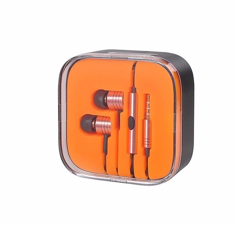 3.5mm Metal Xiaomi piston Kulaklık Kulaklık Gürültü Iptal Kulak Kulaklık kulaklık için Mic Uzaktan ile Xiaomi Samsung iphone 6 6 s