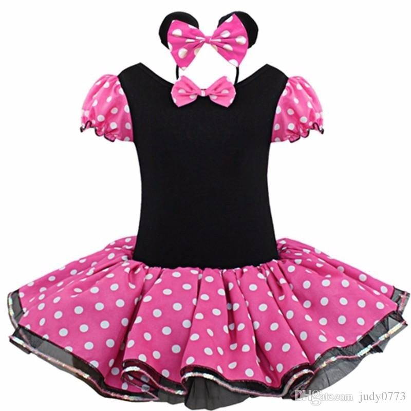 b3f91319b 2016 Summer outfits baby clothes Clothing Baby Girls Dress Lovely Color Dot Mickey  Mouse Minnie Dress