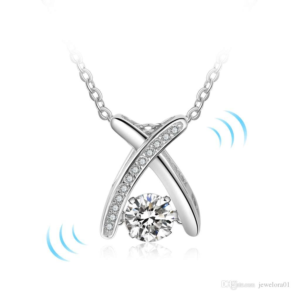 Wholesale rotatable dancing stone 925 sterling silver pendants wholesale rotatable dancing stone 925 sterling silver pendants necklaces charm love necklace dancing diamond jewellery for women jewelry design gold charms aloadofball Images