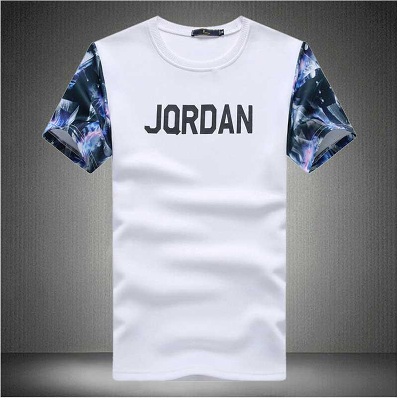 2016 New Jordan T Shirts Men Designer Clothes Cross Flag