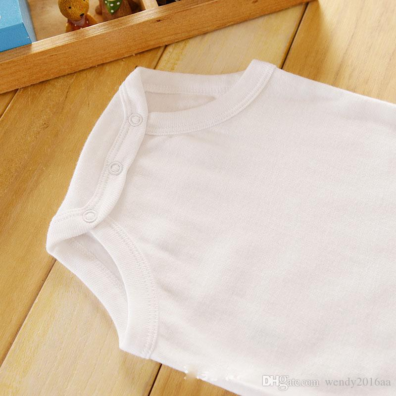 Baby Rompers Suit Summer Infant Triangle Romper Onesies 100% cotton sleeveless babies clothes pure white for boy girlbestgift