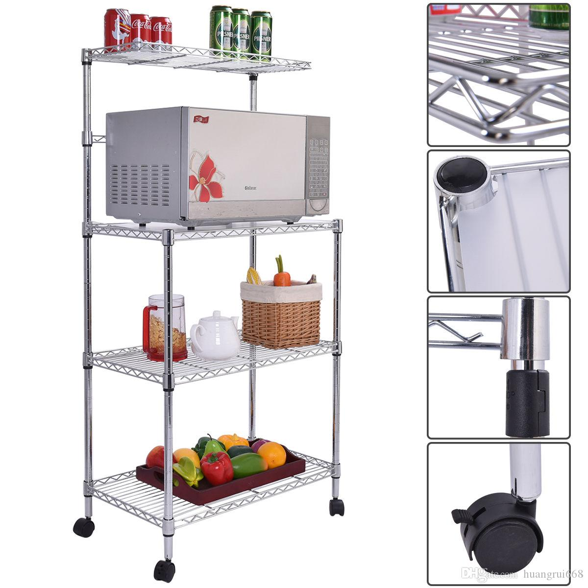 3 Tier Kitchen Baker\'S Rack Microwave Oven Stand Storage Cart ...