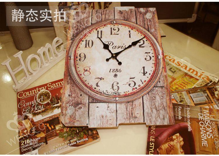 30*40CM Modern Designed Craft Retro Vintage Rustic Wall Clock Shabby Chic Home Coffee Shop Bar Decor
