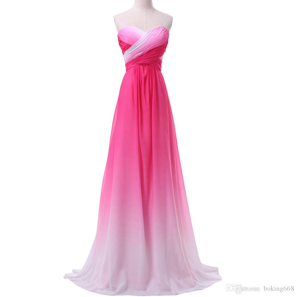 Ombre Sweetheart Prom Dresses 2019 Newest Grace Karin Gradient Colorful Sexy party Dresses Sequins Party Gowns Cheap Robe de soiree
