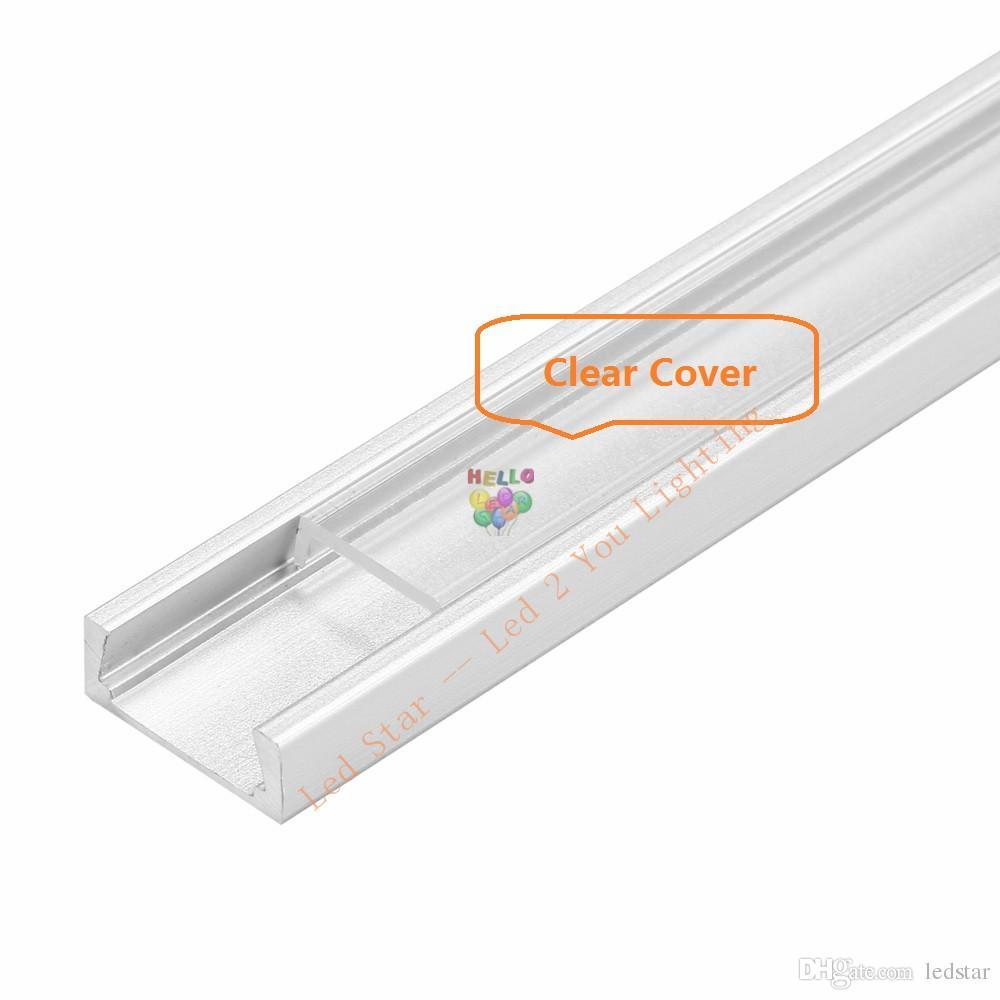 1m 1.5m 2m Tira de LED perfil de aluminio para 5050 5630 Barra de luz LED LED barra de luz carcasa de canal de aluminio con clips de tapa de cubierta