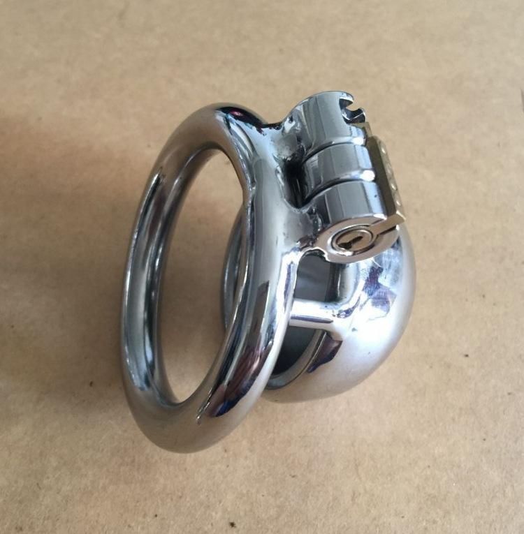 New Lock Design 25mm Käfiglänge Edelstahl Super kleine männliche Keuschheitsgürtel 1