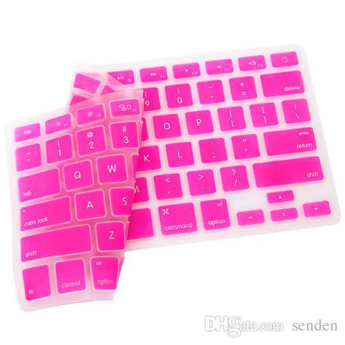 الحرة الشحن بالجملة ملون سيليكون لوحة المفاتيح غطاء حامي الجلد للولايات المتحدة أبل ماك بوك برو ماك 13 15 17 الهواء 13 4WGB المحمول