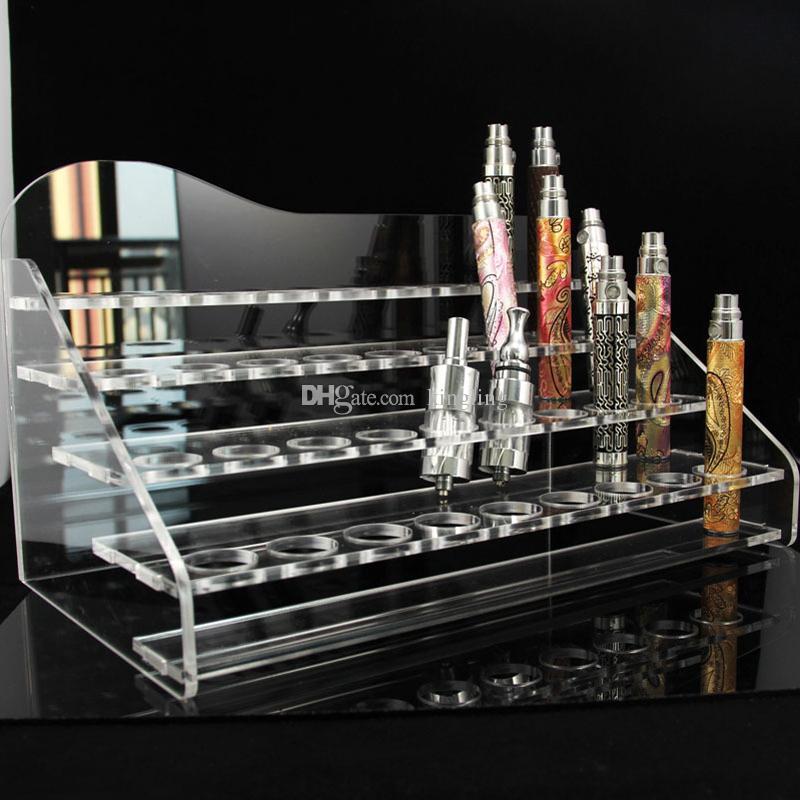 증기 자아 기화기 펜을위한 아크릴 자아 전시 명확한 서있는 선반 홀더 선반 전자 담배 자아 t 건전지 기본적인과 형태 똑 칩