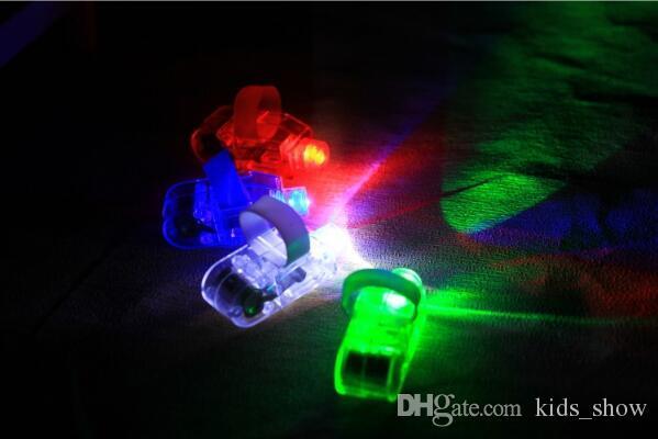 Hot Manufacturers sale LED Finger Lamp LED Finger Ring gifts Lights Glow Laser Finger Beams LED Flashing Ring Party Flash Kid Toys
