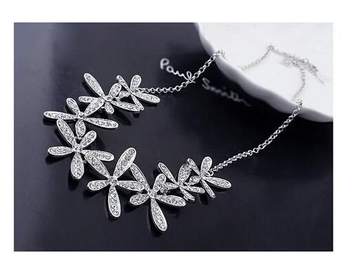 Btime Silver Gold Color Genuine Crystal from swarovski Necklace Earrings Bracelet Ring Jewelry Sets Wedding Women