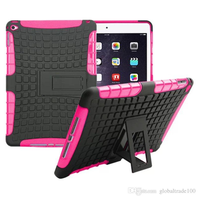 2017 TPU+PC Hybrid Armor Hard Kickstand Stand Cover Tablet Case For iPad 2/3/4/ Pro iPad air 2 iPad mini 4 Cases