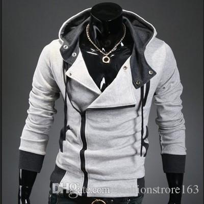 Hot New Assassin's Creed 3 Desmond Miles Hoodie Top Coat Jacket Cosplay Costume