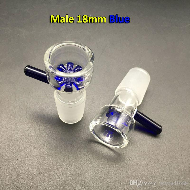 Free DHL Shipping!!! 14mm 18mm Glass Bowls Female Male colorful bowl With Snowflake Filter Ashcatcher Glass Hookah Bowl for Glass Oil Rigs