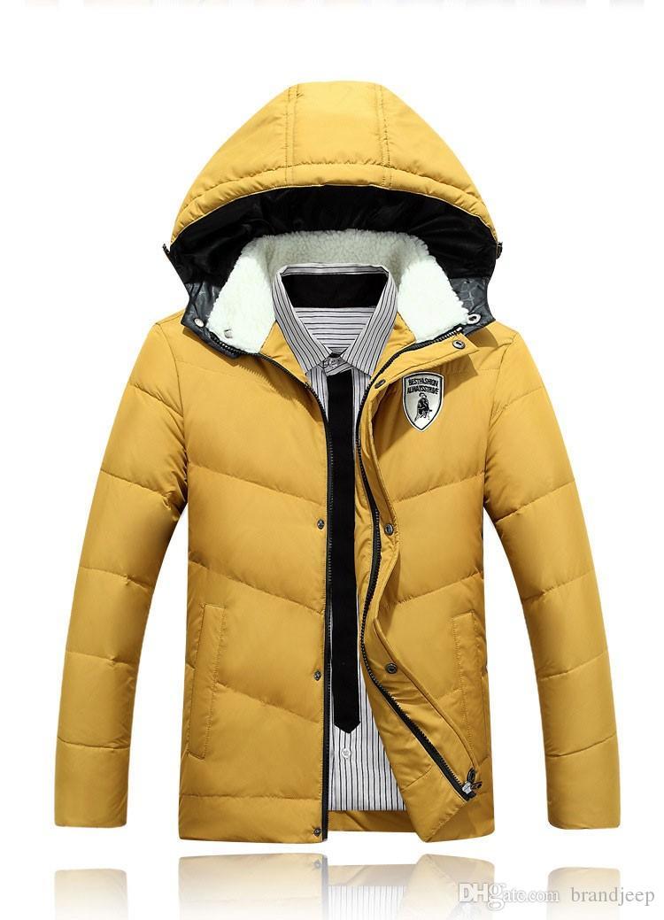 2016 Men's Winter Wind Proof Jackets Long Winter Jacket Loose Fit Stylish Men Overcoat Casual Men Outwear 80hfx