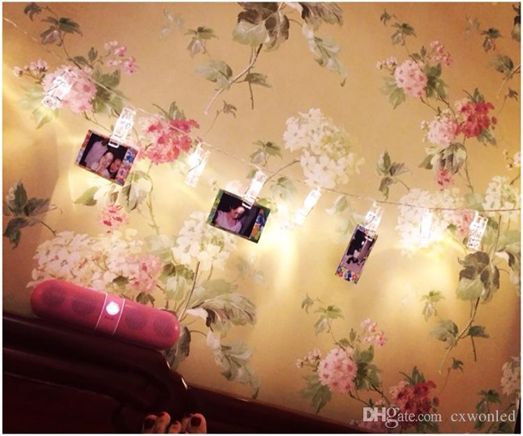 Newest clip string light 5v warm white rgb led strips clips decorative lamps for picture wall christmas wedding party decoration