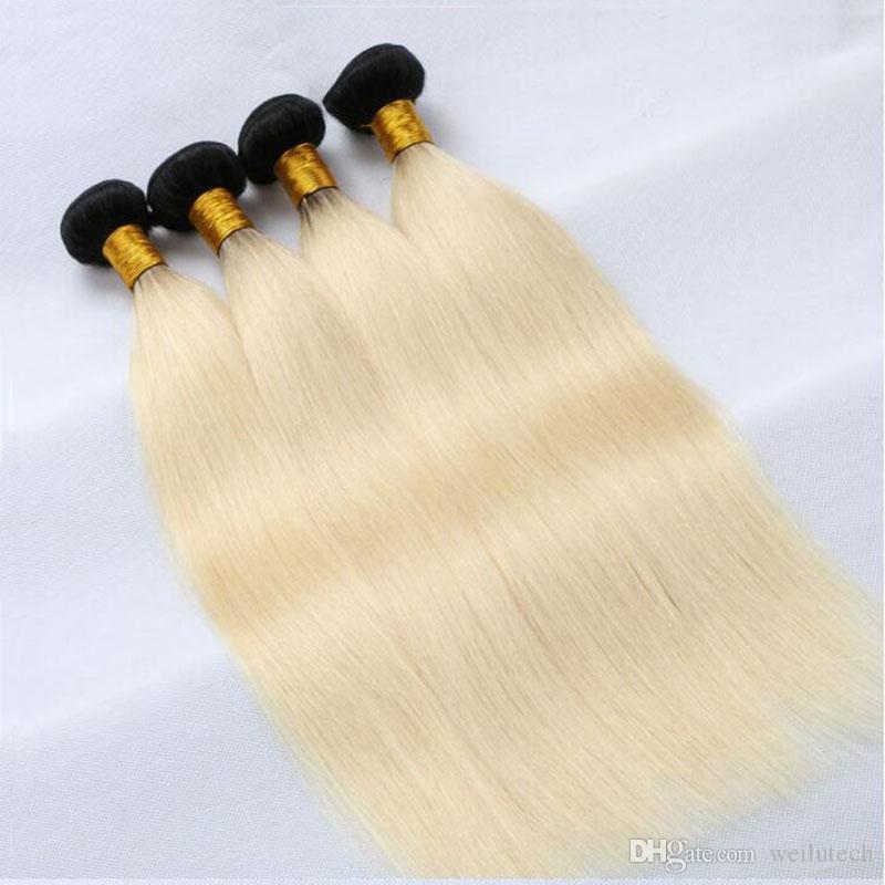 Hair Extensions Straight Hair Pieces Gold 613 100 Human Hair