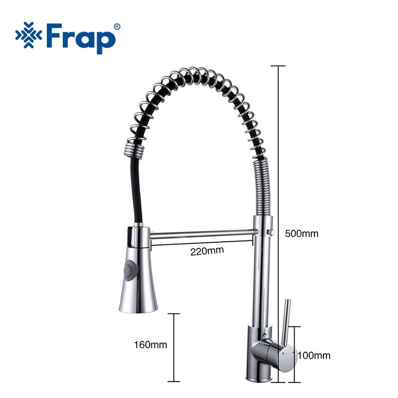 Online Cheap Frap Spring Kitchen Faucet Swivel Spout Single Handle Tap Pull  Out Spray Sink Chrome With Push Button Pull Down Faucets F4452 By  Crystalstory ...