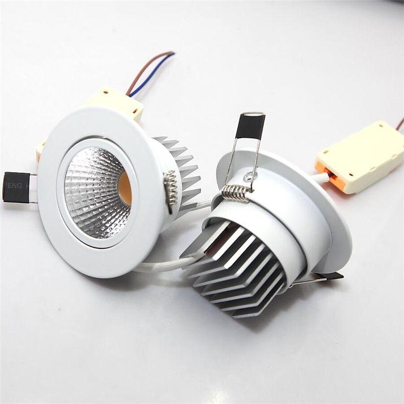 홈 조명을위한 LED 드라이버와 무료 배송 9W COB LED 다운 라이트 천장 램프 최근 LED 벽 램프 스포트 라이트