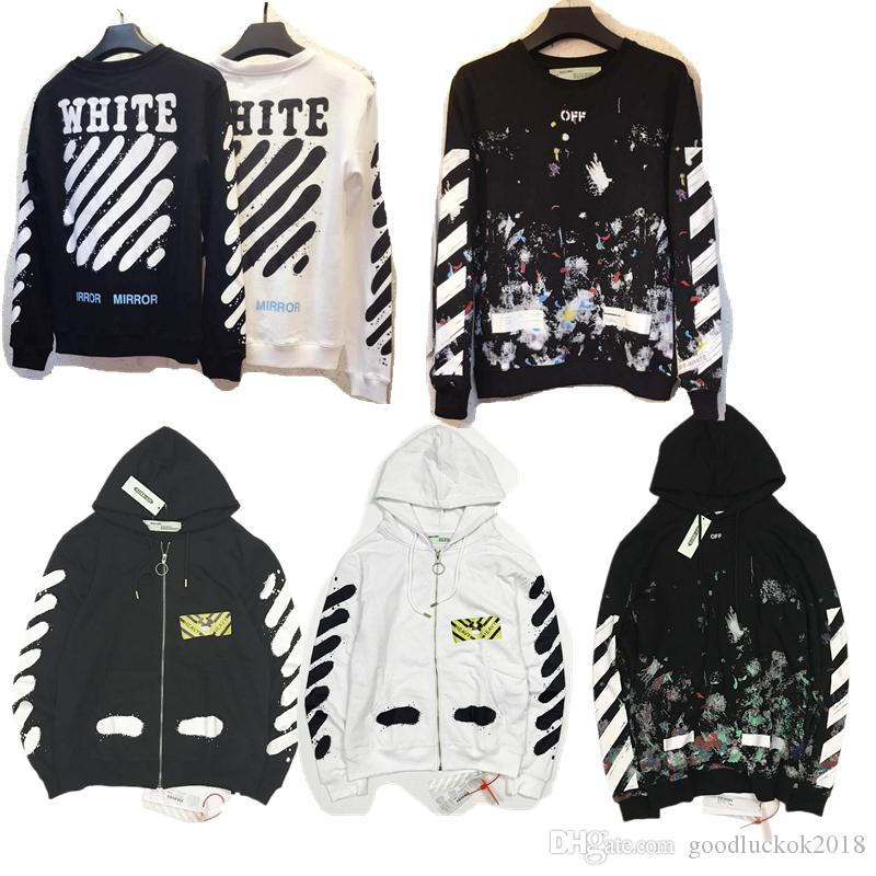 2846e8a70755 New Hot Fashion Sale Brand Clothing Off White Men Hoodies Print ...