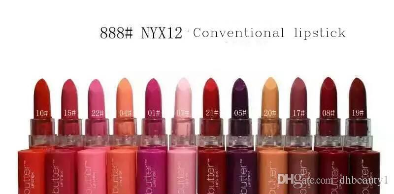 NYX Butter Mate Lipstick Batom Makeup Long-lasting Lipstick Tint Lip Gloss Stick Brand Maquillage