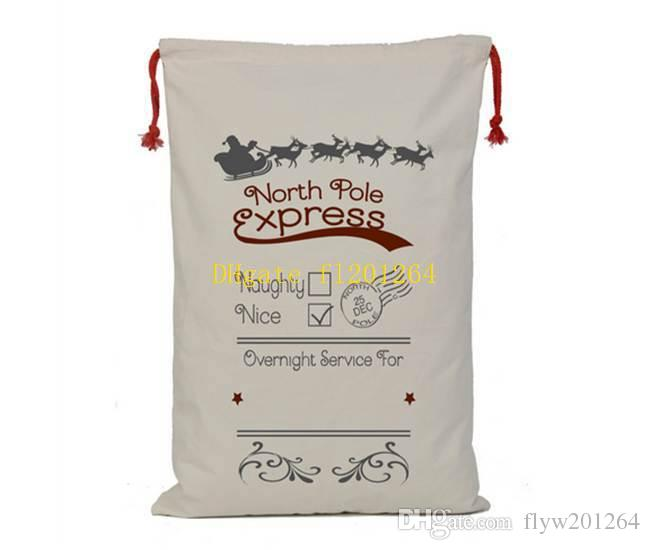 / nouvelle arrivée cadeau sac de noël rouge cordon toile sac de santa sac vintage sac de bas de noël décoration 8 styles