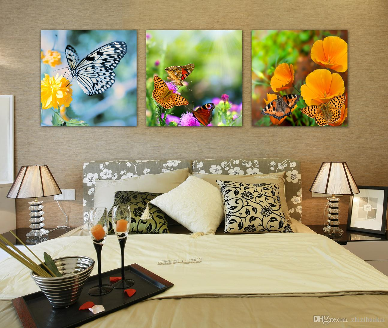 unframed Canvas Prints Apple Grape strawberry ice block butterfly castle Bamboo orchid tree grassland potted flower