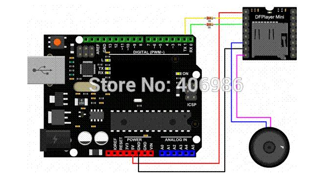 Mini mp player module with simplified output speaker