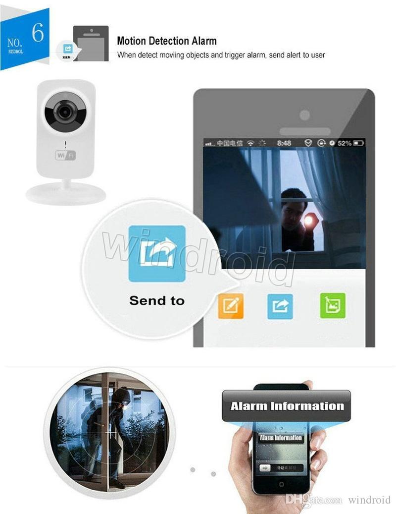 HD 1080x720P Wireless IP Camera Portable smart Wifi CCTV Security Camera Webcam Surveillance Comcorder Night Vision Audio Video Telecamera 5