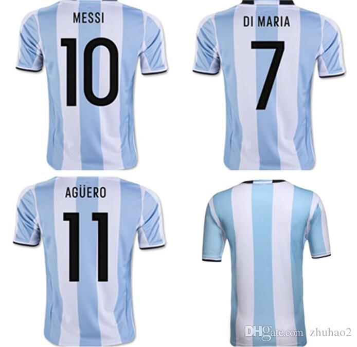 f67503f339d 2019 New 2018 World Cup Argentina Home Soccer Jersey 18 19 MESSI DI ...