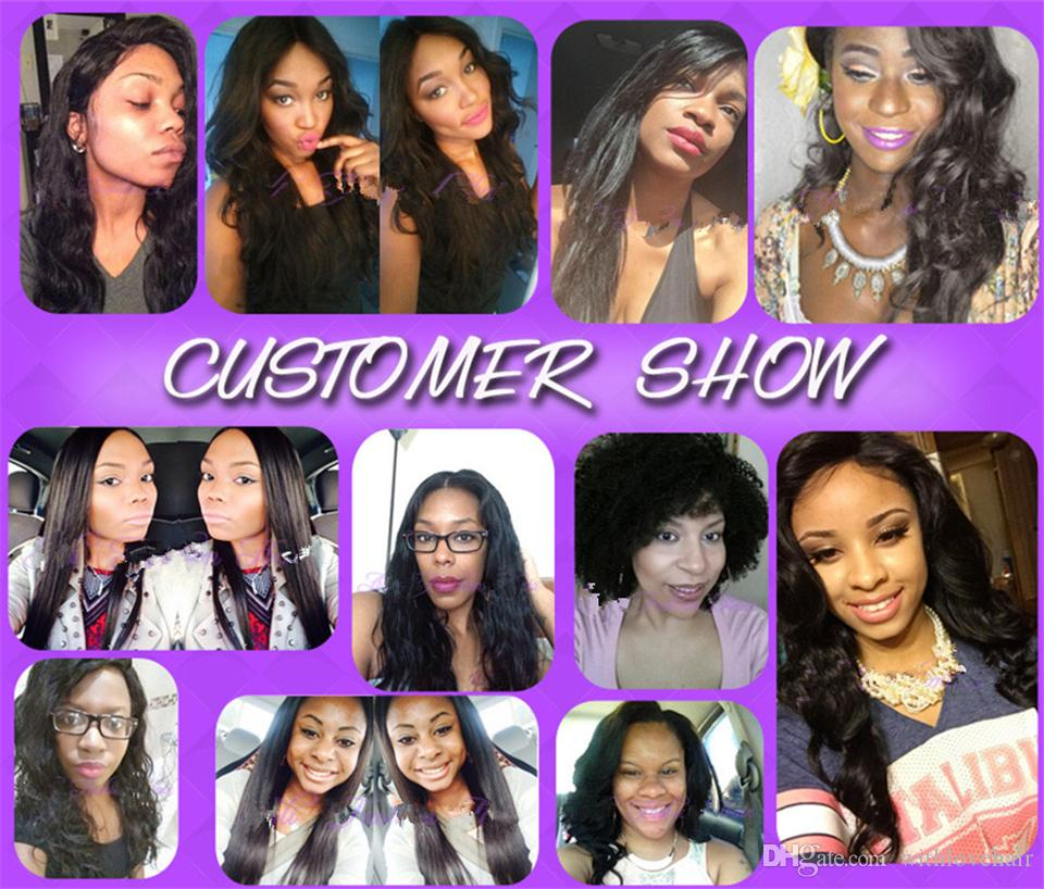 Mongolian virgin hair Straight 130% density bob lace front wig & glueless full lace wig short human hair wigs with bangs