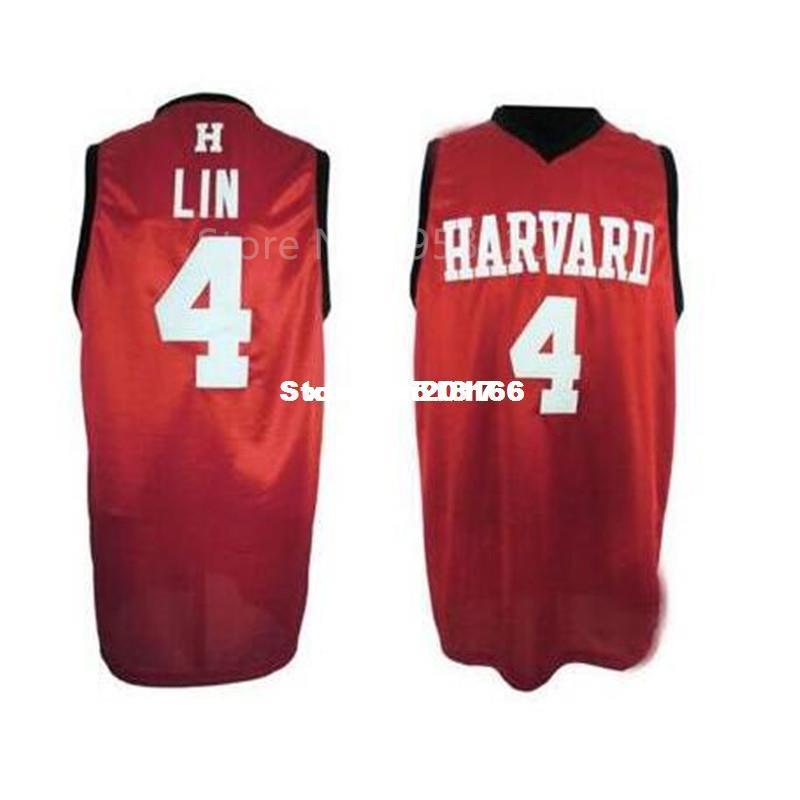 0f6c5b9c7 ... wholesale custom 4 jeremy lin harvard university college basketball  jersey red black embroidery stitched custom any