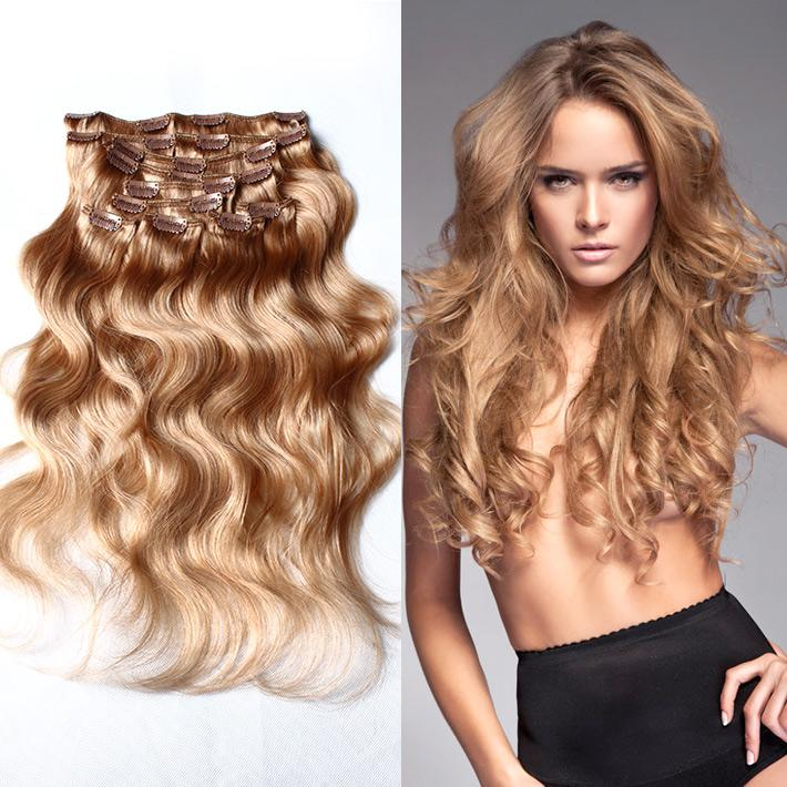 120g27 Virgin Remy Clip Human Hair Extension 20inch 24inch Body