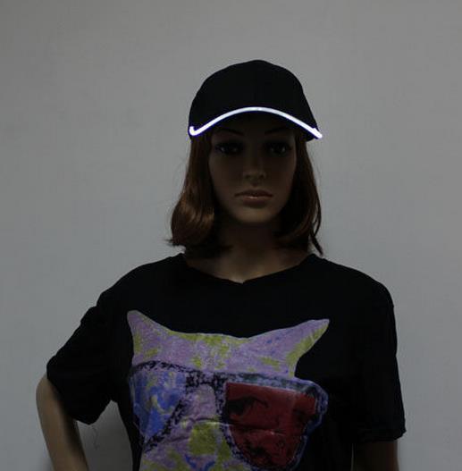 Hommes LED Femmes Sports de mode Casquette de baseball Discothèque Discothèque Soirée hip hop Casquette de baseball Course de nuit à led Illuminé Chapeau de soleil Visière
