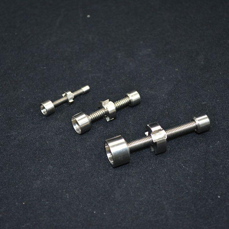 Titanium Nail 10mm 14mm 18mm smoking metal pipe click n vape for Incense Globe Oil Rig ceramic nail Glass Water Bongs Tools Accessories